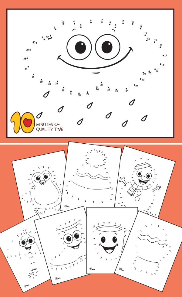 Winter themed connect the dots printable