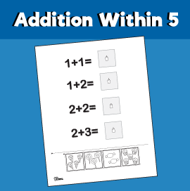 Addition within 5 - Cut & Paste Candy