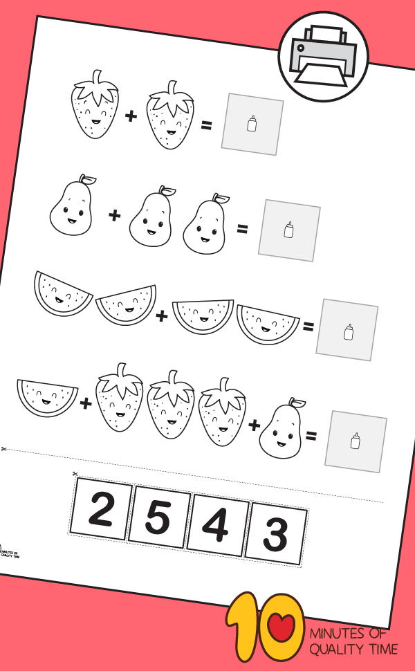 kindergarten math worksheets addition with pictures