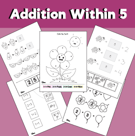 Addition within 5 Printable Pack
