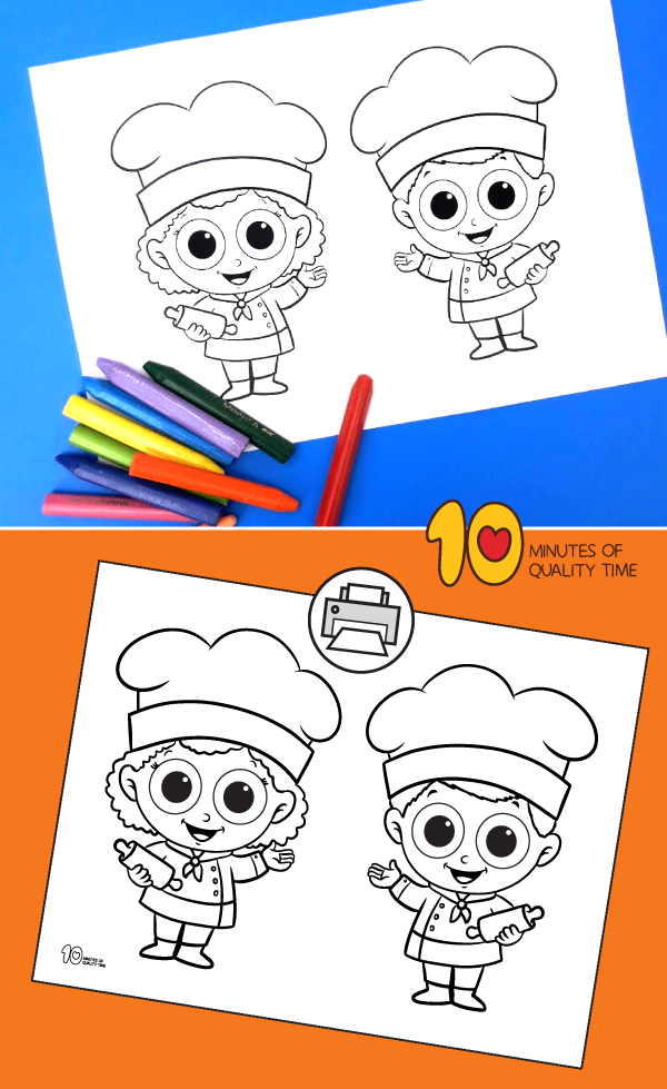 baker coloring pages preschool