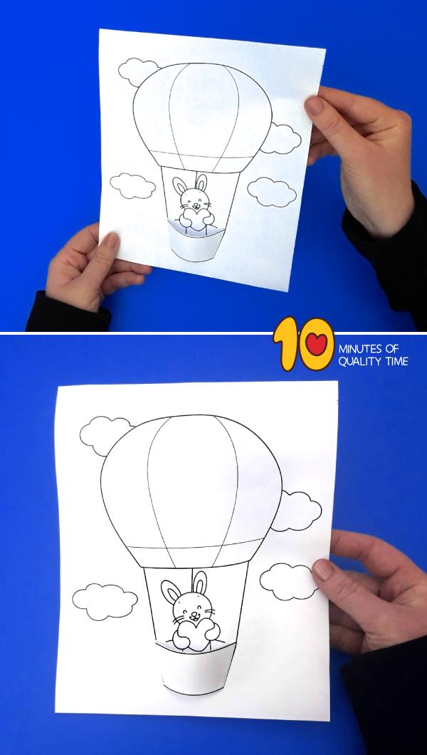Bunny in a Hot Air Balloon Craft