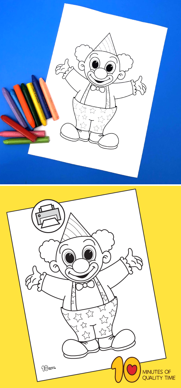 clowns printable coloring pages