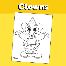 Clown Coloring Sheet