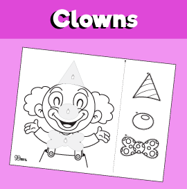 Clown Cut and Paste Worksheet