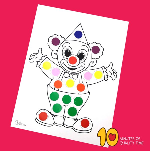printable clown face