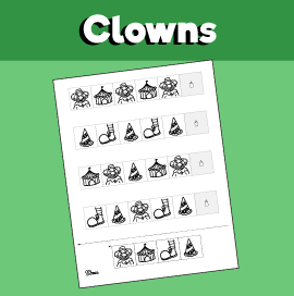 Clown Pattern Worksheet