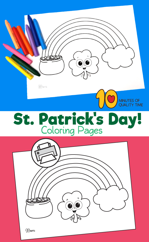 st patrick's day coloring pages for toddlers