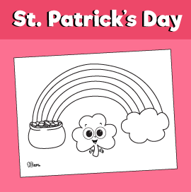 Coloring Page for St. Patrick's Day