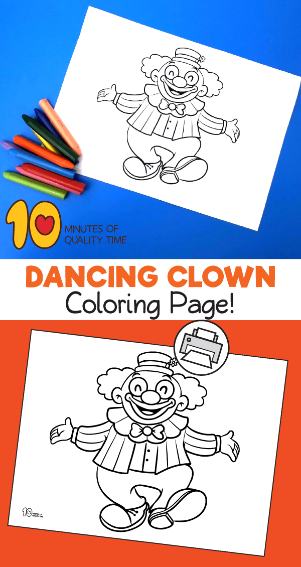 clown printable coloring pages