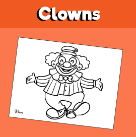 Dancing Clown Coloring Page