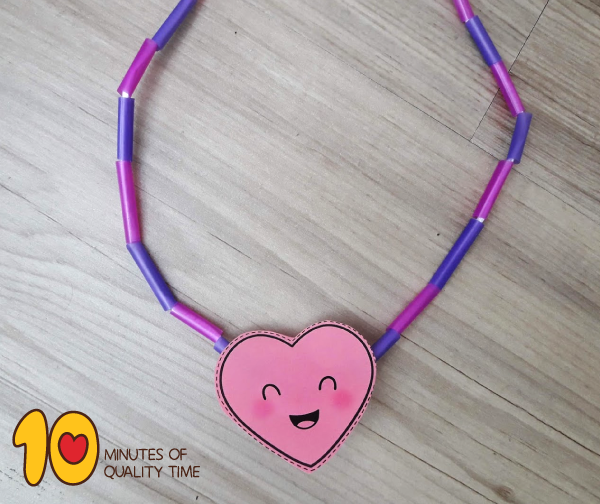 Heart Necklace Valentine's Day Craft