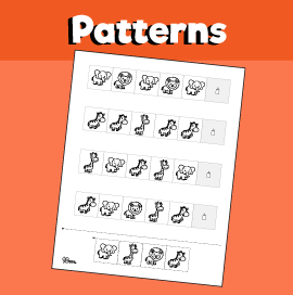 Jungle Pattern Worksheet