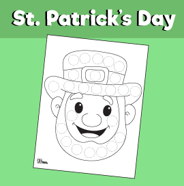 Leprechaun Day Dot Activity