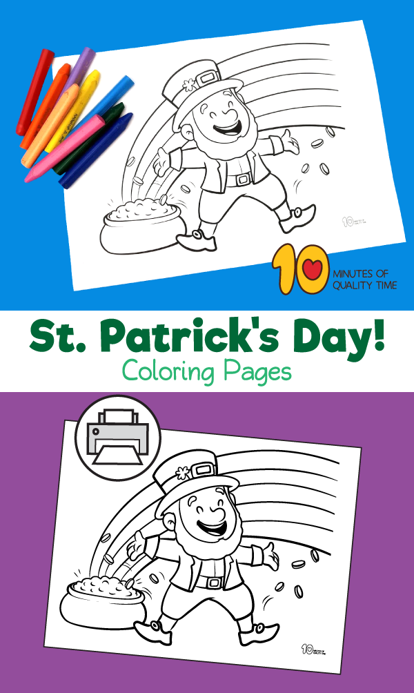 st. patrick's day rainbow coloring pages