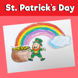 Leprechaun With Rainbow Craft