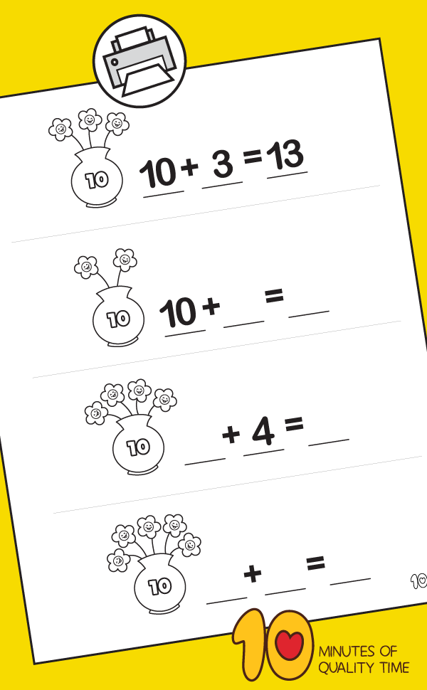 Math for Kindergarten - Bowl of Flowers