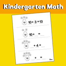 Math for Kindergarten - Bowl of Flowers