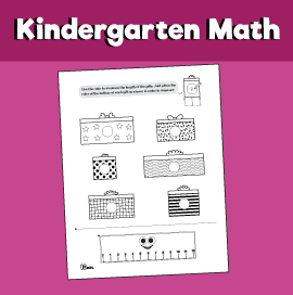 Math for Kindergarten - Measuring Objects