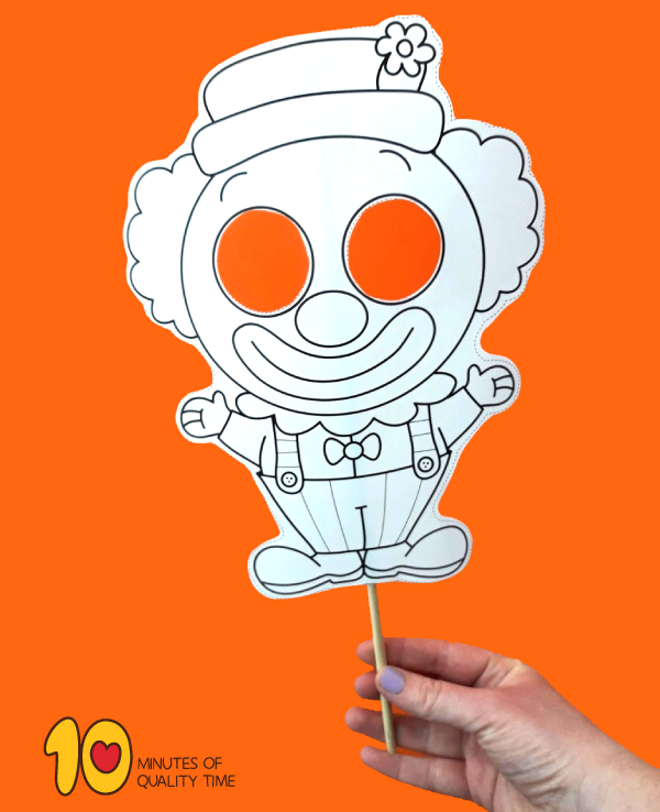 clown printable template