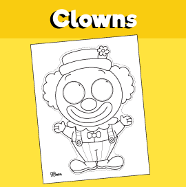 Paper Clown Mask Printable