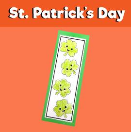 St Patrick's Day Bookmark