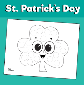St Patrick's Day Dot Activity