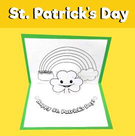 St. Patrick's Day Pop Up Card
