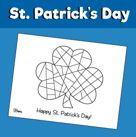 St Patrick's Day Shamrock Coloring Page