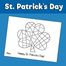 St Patrick's Day Shamrock Coloring Page