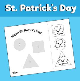 St. Patrick's Day Cut and Paste Worksheet