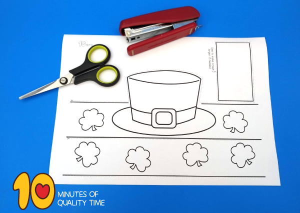 st patrick's day hat template