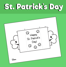 St. Patrick's Day Shamrock Card