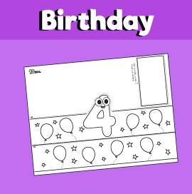 4 Year Old Birthday Crown