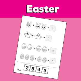 Addition Within 5 Easter Worksheet