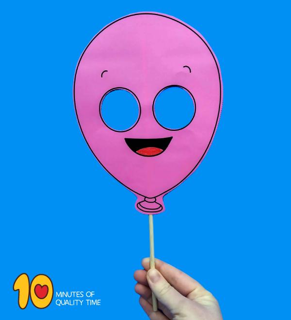 image about Balloon Printable known as Balloon Printable Mask 10 Minutes of High-quality Season
