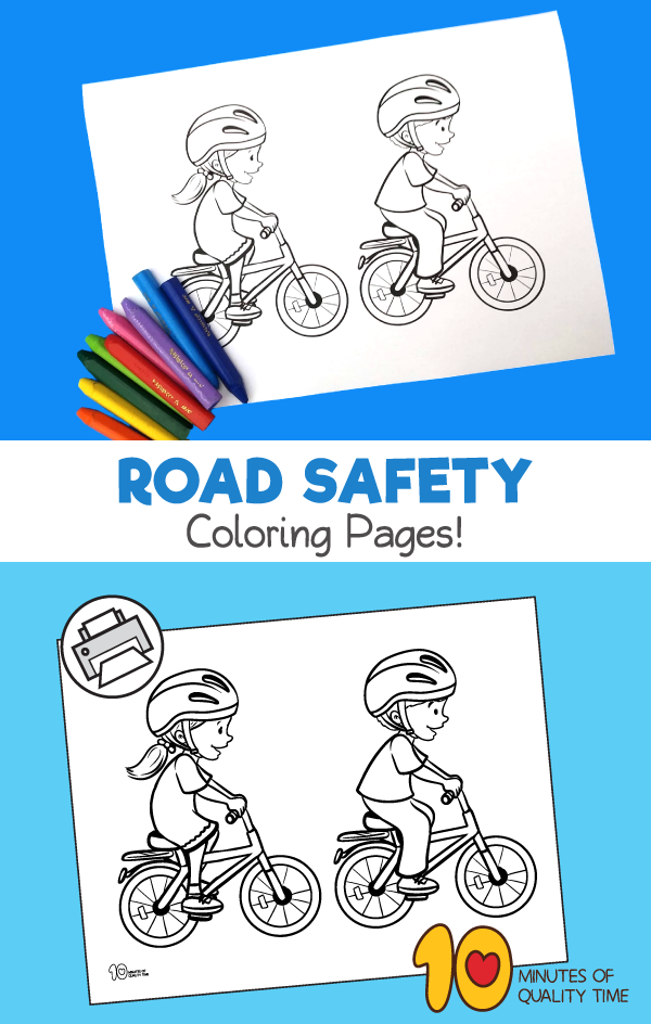 road safety coloring pages