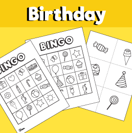 Birthday Bingo Activity