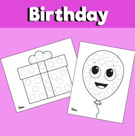 Birthday Do a Dot Printables