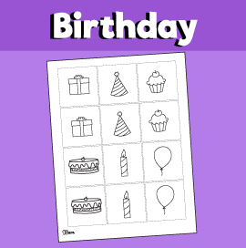 Birthday Party Memory Game