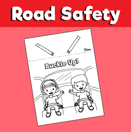 Buckle Up Car Seat Belt Craft