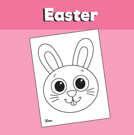 Bunny Coloring Pages for Easter
