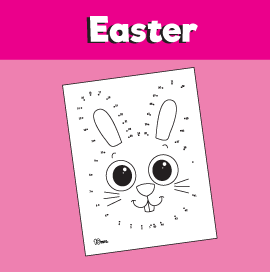 Bunny Dot to Dot Worksheet