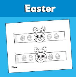 Bunny Paper Bracelet for Easter