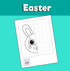 Bunny Symmetry Drawing Worksheet