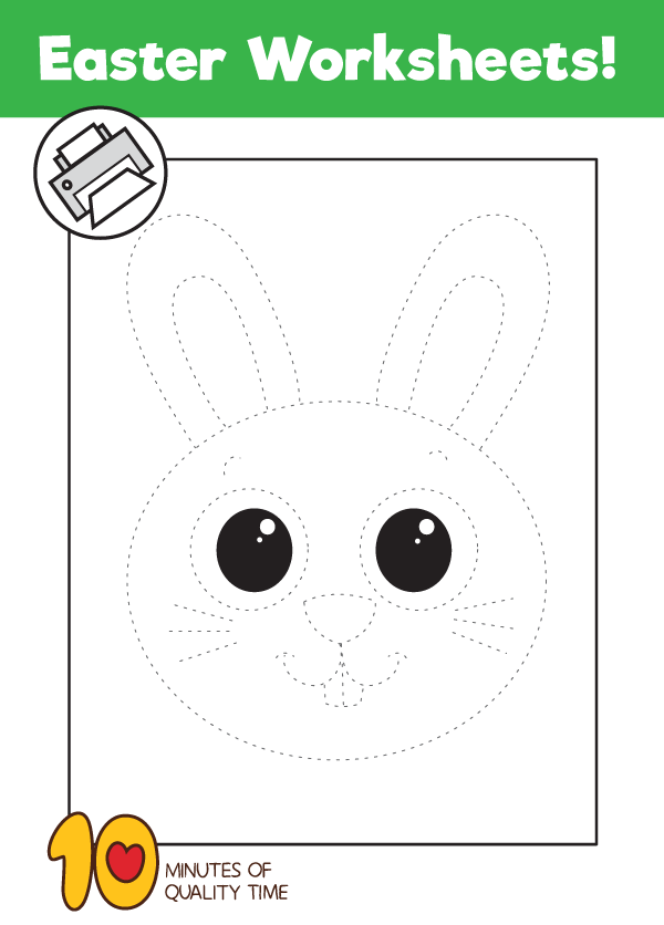 Bunny Tracing Worksheet 10 Minutes Of Quality Time