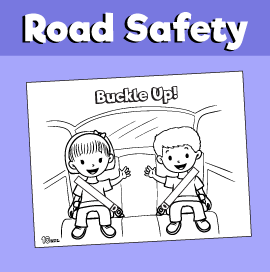 Car Safety Seat Belt Coloring Page