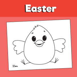 Chick Coloring Pages for Easter