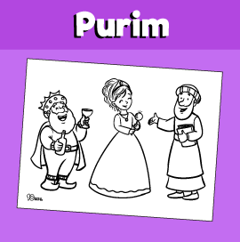 Coloring Page for Purim