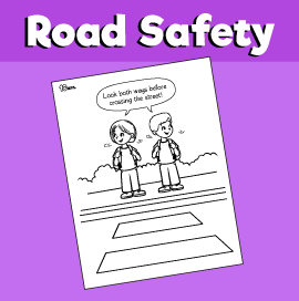 Crossing the Street Coloring Page
